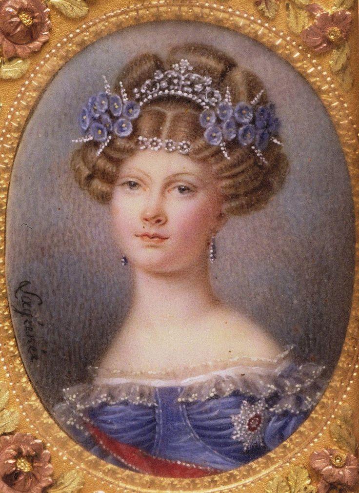 """Portrait of Grand Duchess Elena Pavlovna Romanova of Russia. """"AL"""" """" """""""