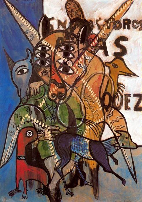 'Barcelona', gouache de Francis Picabia (1879-1953, France)