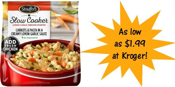 Kroger: Stouffer's Slow Cooker Meals as low as $1.99!