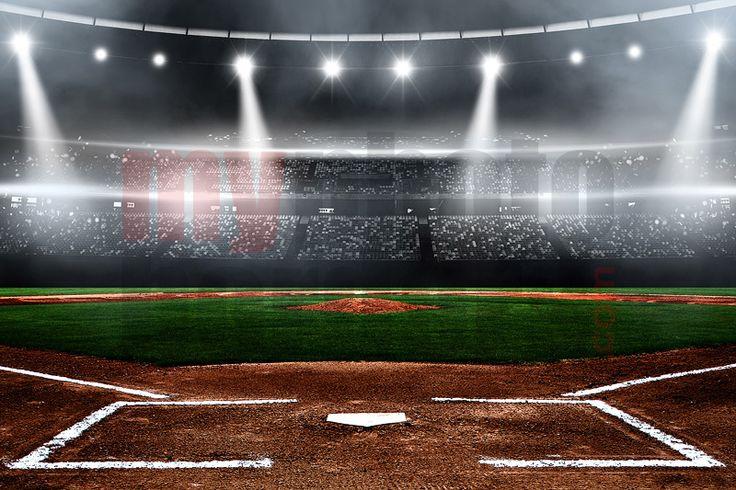Digital Background Baseball Stadium Horizontal