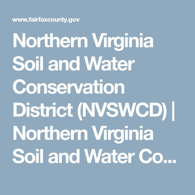Northern Virginia Soil and Water Conservation District (NVSWCD) | Northern Virginia Soil and Water Conservation District