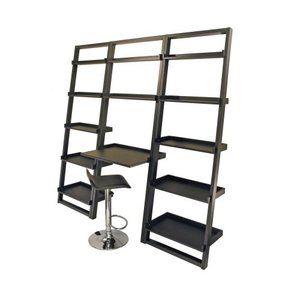 loft leaning desk u0026 shelves