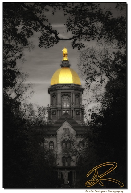 """Golden Dome, Notre Dame Indiana. Like the Irish?  Be sure to check out and """"LIKE"""" my Facebook Page https://www.facebook.com/HereComestheIrish Please be sure to upload and share any personal pictures of your Notre Dame experience with your fellow Irish fans!"""