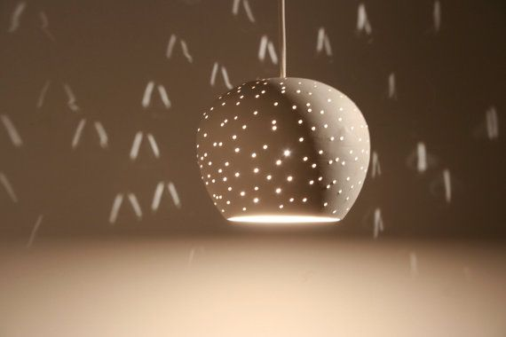Claylight Pendant light 5 Dot Pattern by lightexture on Etsy, $125.00