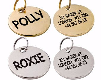 Custom Dog Tag Personalized ID Engraving Nameplate by CollarDirect