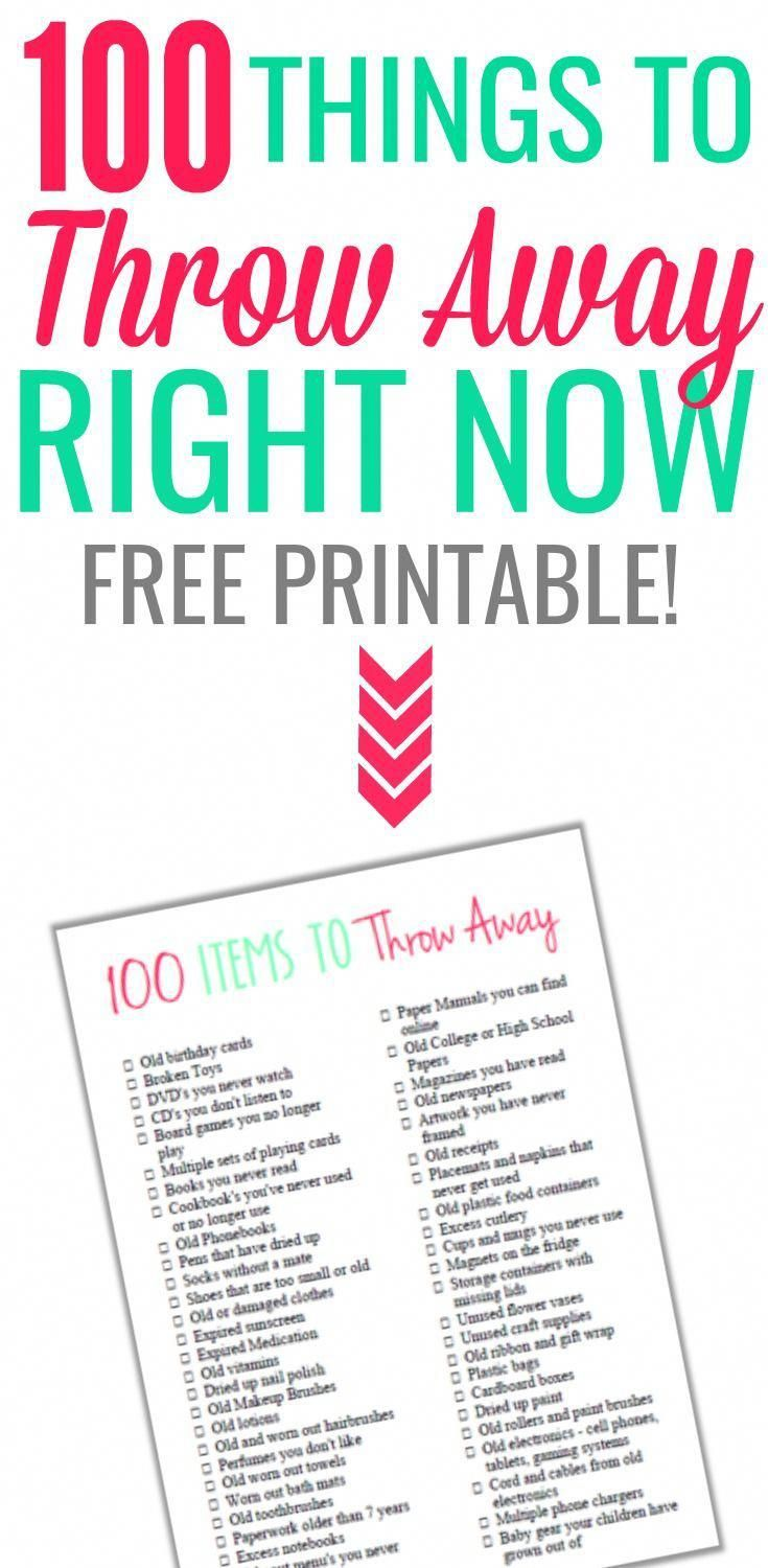 100 Items To Throw Away And Declutter Right Now Declutteryourhome Cleaning Hacks Deep Cleaning Tips Clean House