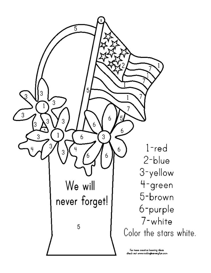 69 best veterans day images on pinterest veterans day for Memorial day coloring pages for kids