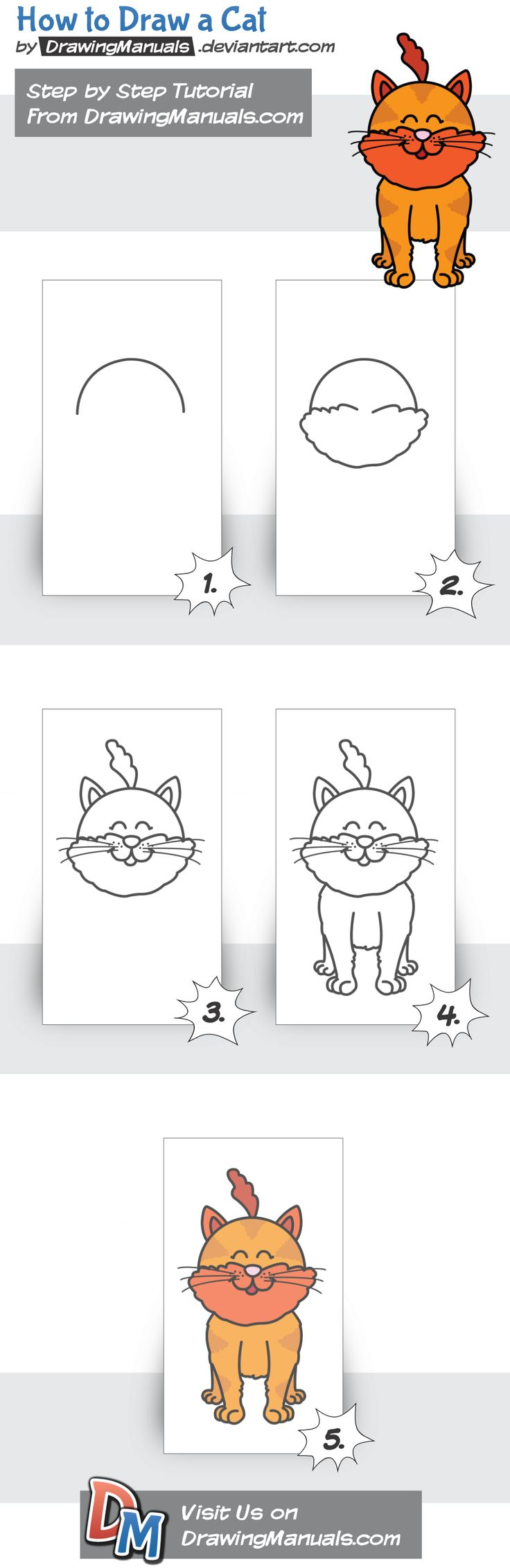 How to Draw a Cat Step-by-Step https://play.google.com/store/apps/details?id=com.aku.drawissimo https://itunes.apple.com/app/id1098056720