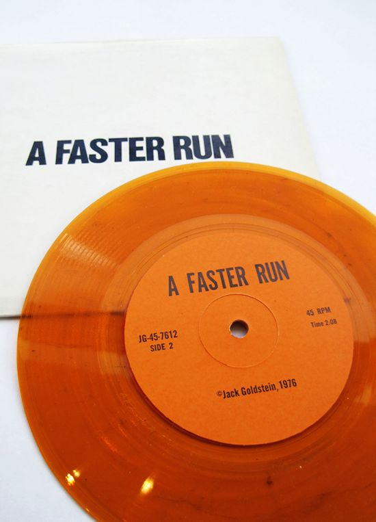 Artists' Sound Recording: A Faster Run / Jack Goldstein, 1976.