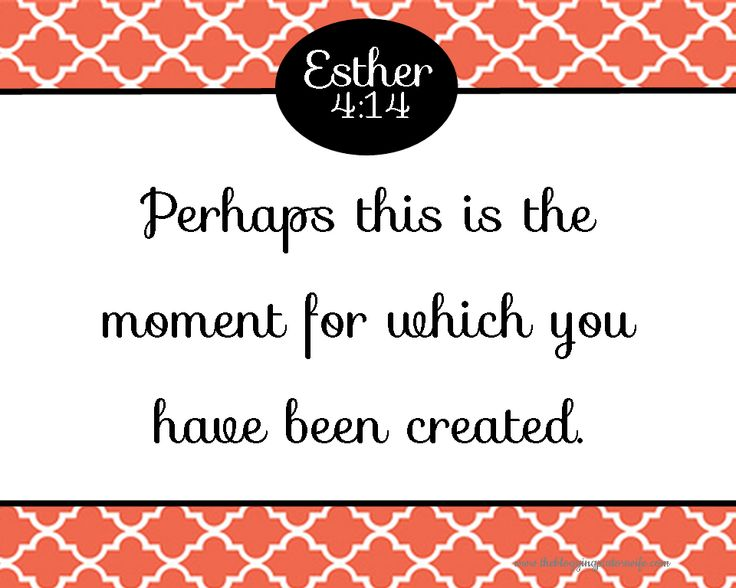 Free Printable Verse Art.  Esther 4:14