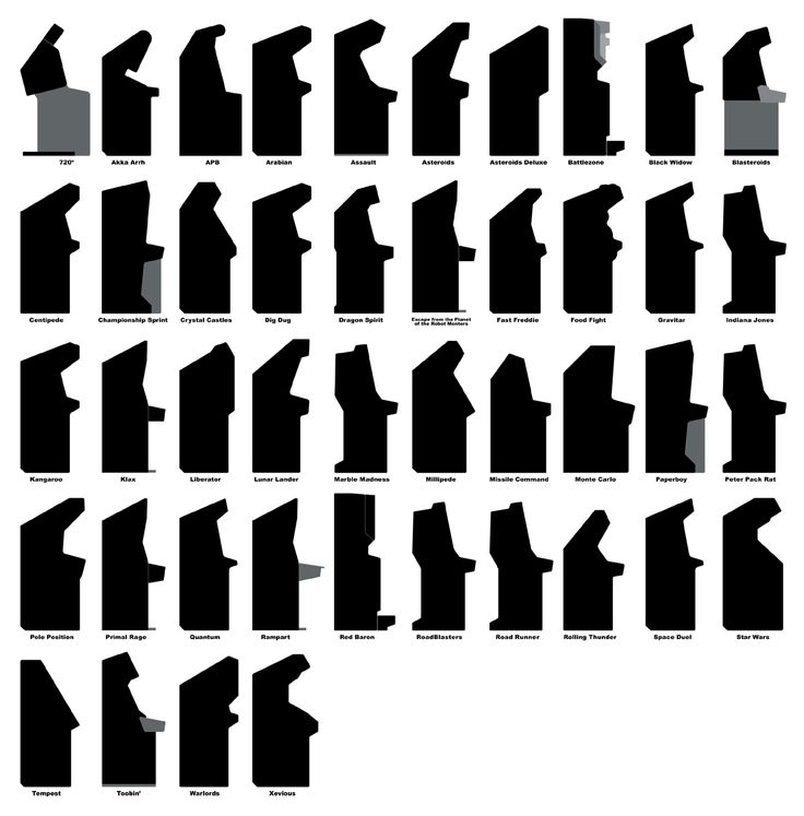 Trying to find: Comparison of arcade cabinet shapes - IAM/KLOV Coin-op Videogame, Pinball, Slot Machine, and EM Machine Forums