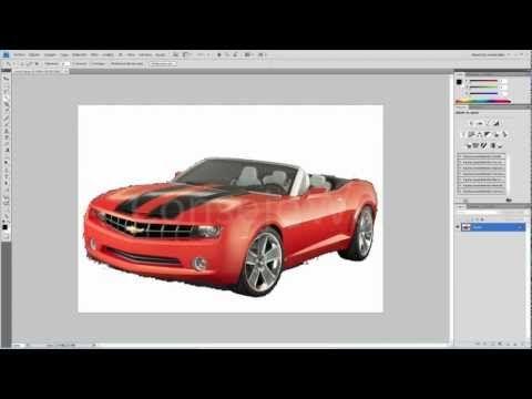 Como quitar el fondo de una imagen en photoshop con la varita magica - YouTube
