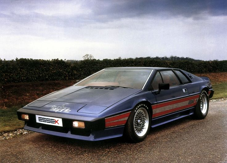 The hottest British sports car of 1980, the Lotus Esprit Essex Turbo. Under its engine cover, there was 210 hp on tap, helping the car top out at 150 mph.