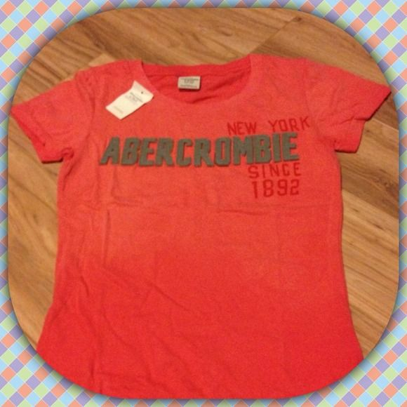 NWT Abercrombie and Fitch Tshirt Size Small. Cute basic tee.  NO TRADES/HOLDS Please help me keep my closet friendly & drama free. If you're unhappy with my listing just purchase elsewhere Happy Poshing Abercrombie & Fitch Tops