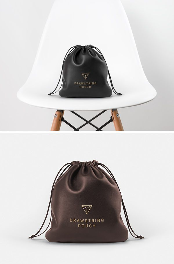 Free Leather Drawstring Pouch MockUp PSD (62 MB) | GraphicBurger | #free #photoshop #mockup #psd #leather #drawstring #pouch
