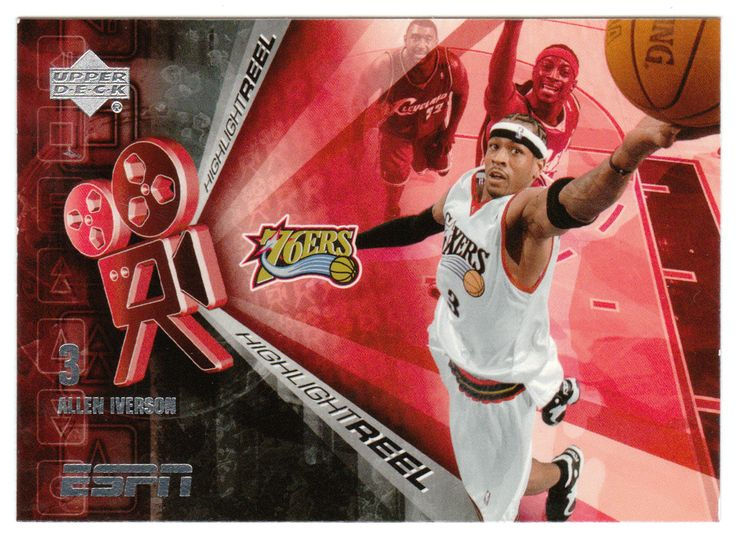 Allen Iverson # HR-15 - 2005-06 Upper Deck ESPN Basketball Highlight Reel