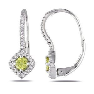 10k White Gold 1/2 CT TDW Yellow and White Diamond Stud Earrings (G-H, I1-I2) Amour. $607.99. Save 50%!