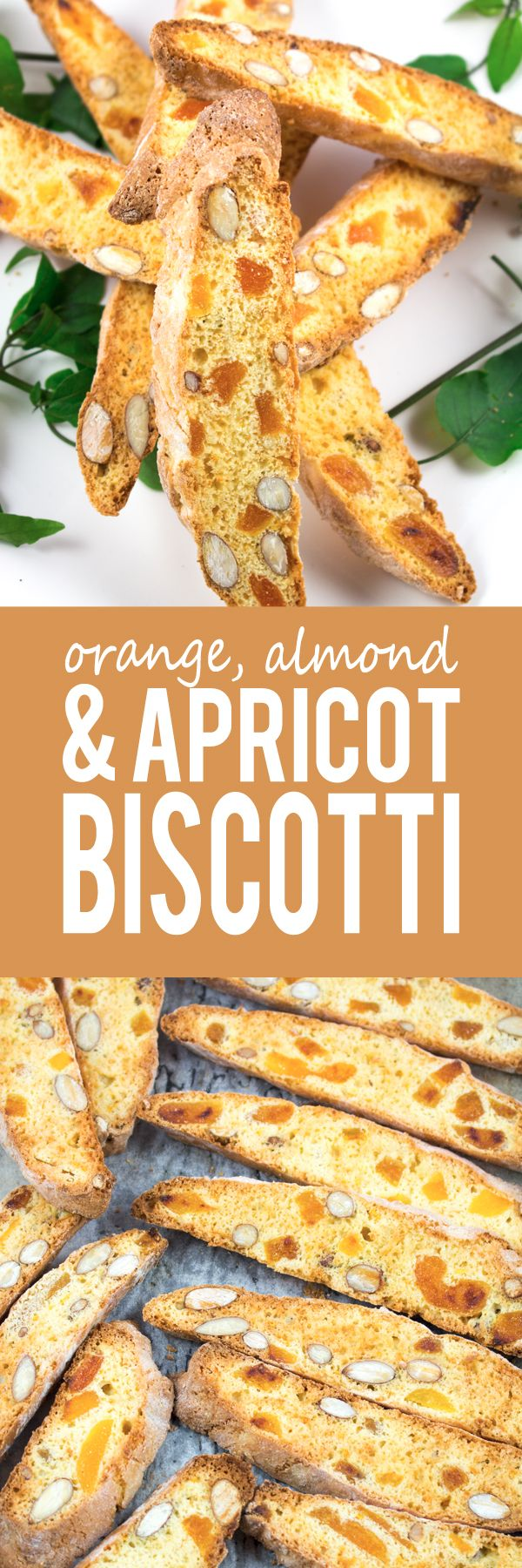 Orange, Almond & Apricot Biscotti - My version is bursting with crunchy almonds that go perfectly with the sweet and tart flavours of the dried apricots. The orange zest gives a great freshness to the mix.