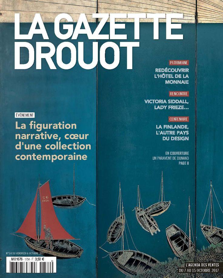 Gazette Drouot N° 34 du 6 octobre 2017. #Dunand #ArtDéco #Paravent #WebZine #ArtMarket