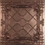 """2ft x 2ft Bentley Faux Bronze Ceiling Tiles by Better Than Tin by Ceilume. $18.95. Volume pricing as low as $13.45; Class A Fire Rated; 2ft x 2ft; Made in the USA; Made from 0.030"""" thick, vinyl plastic. The styling accents of Bentley Faux Bronze Ceiling Tiles create an atmosphere of rich antiquity and capture the rich, intricate flavor of the Baroque period."""