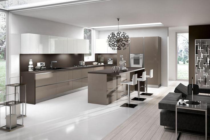 cucine moderne con penisola veneta cucine - Cerca con Google  Idee per la casa  Pinterest ...
