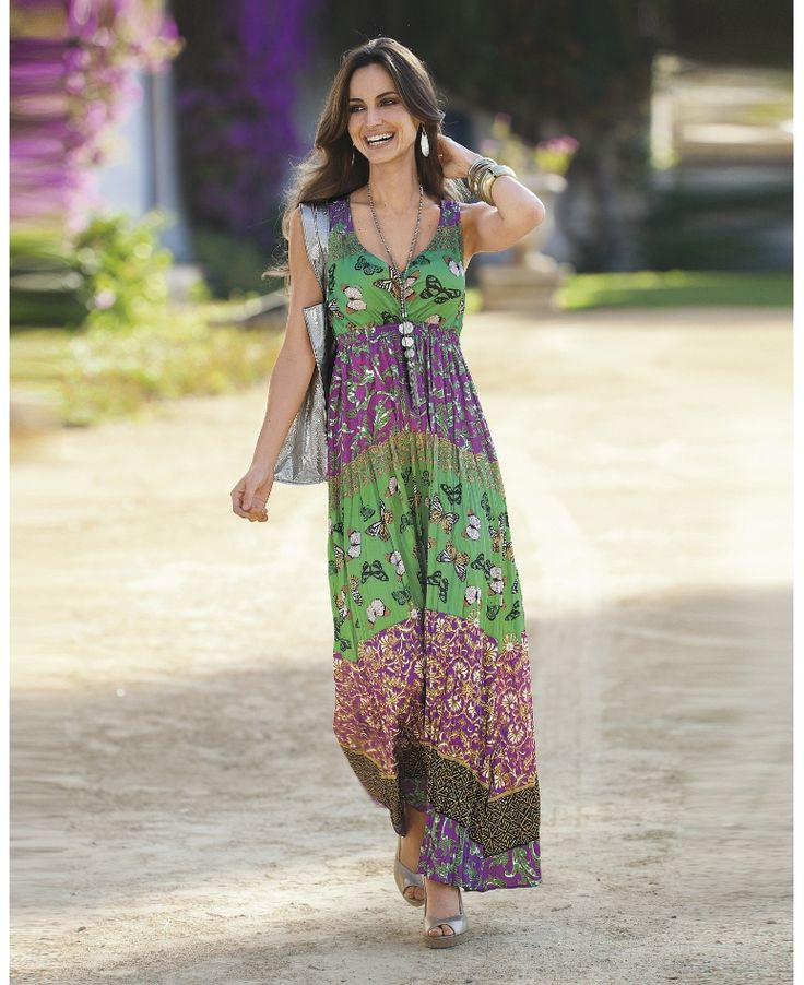 Together maxi print dress