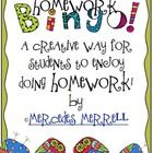 Homework Bingo! A Creative Way for Students to Do Homework brings a little twist to the old chore, and makes it more motivating! Homework is an imp...
