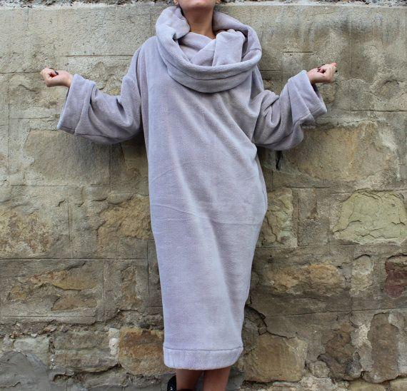 Maxi jurk Oversized jurk trui jurk coltrui door cherryblossomsdress
