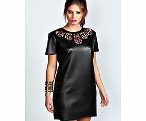 boohoo Kate PU Lazer Cut Dress - black azz36561 We love, love, LOVE this laser cut shift dress . Work it with a tough arm cuff , punk-inspired platform heels and a neon clutch . http://www.comparestoreprices.co.uk/dresses/boohoo-kate-pu-lazer-cut-dress--black-azz36561.asp
