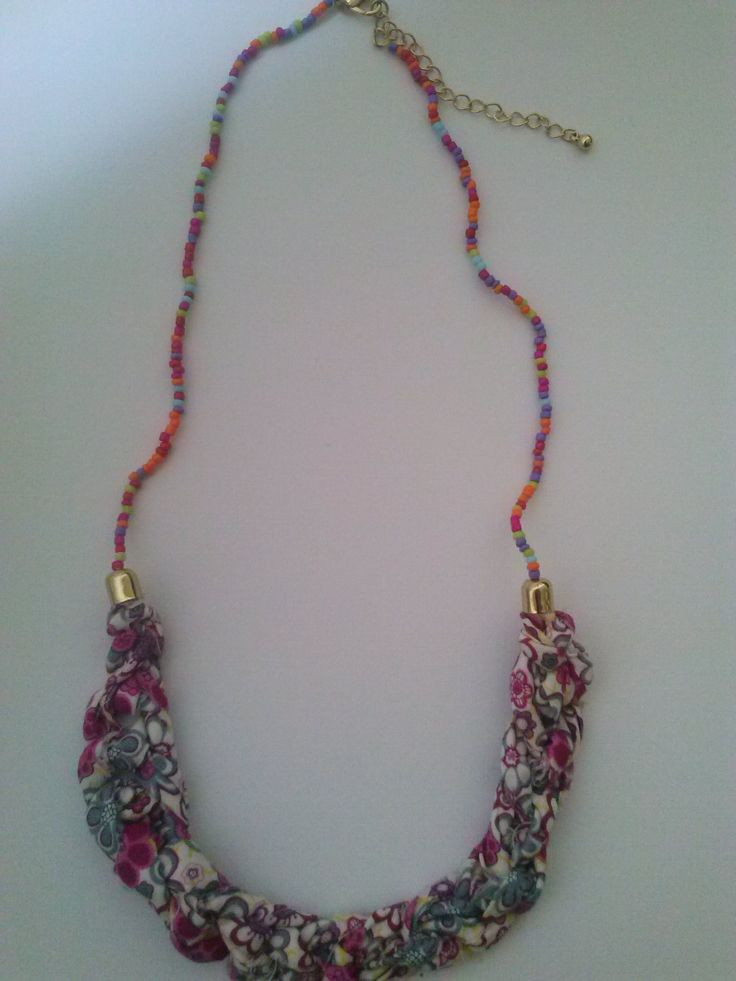 Collar, necklace, fabric jewelry