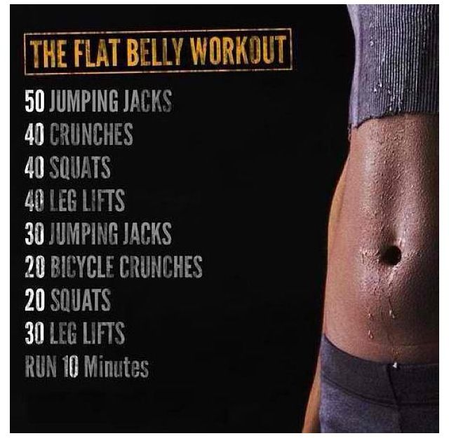Flat belly workout - Every Day - Only one rep of this and then onto the Plump Glutes Circuit. You can replace the Run with any cardio. And for better results extend the cardio to 15-20 minutes.