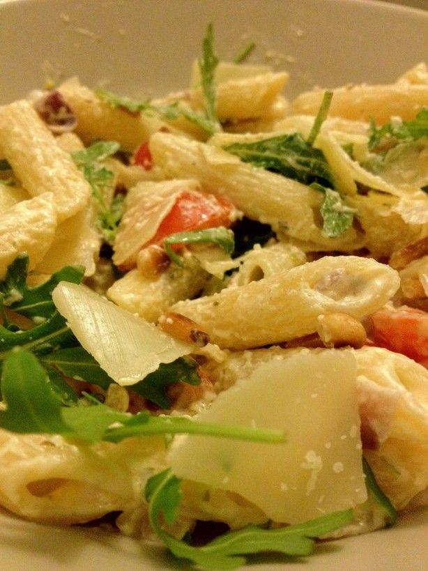 Eenvoudige pasta met Boursin