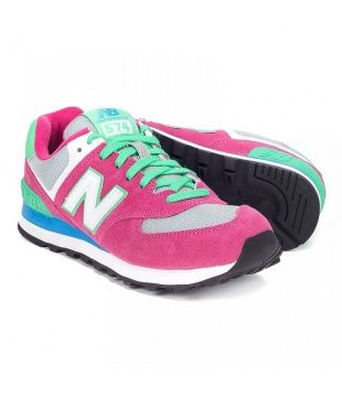 New Balance WL574 Pink/Green - HD Heavy Duty
