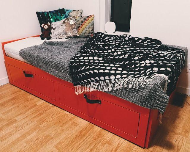 Ikea Bimnes Hacked Bed Brimnes Bedroom Furniture Makeover
