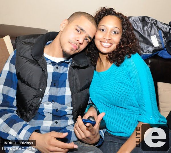 J. Cole And His Wife Melissa Heholt. They Met While They