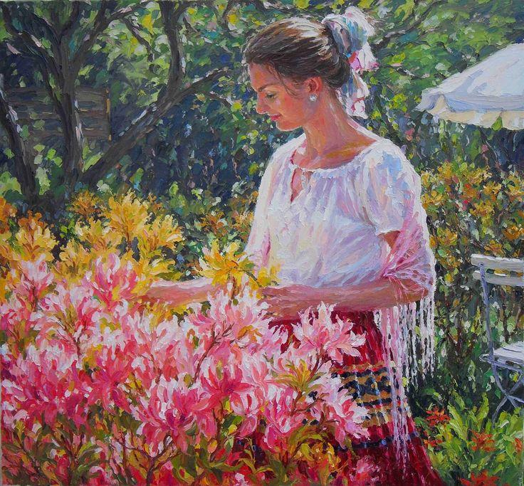"""Barbara Jaskiewicz Fine Art:   """"Azalea Garden""""ORIGINAL IMPRESSIONIST PAINTING..."""