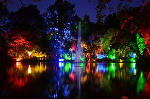 Festival de las luces en New Plymouth, Nueva Zealanda.