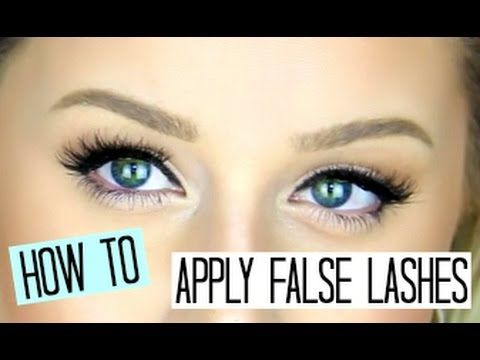 How To Apply False Eyelashes For Beginners!! | Makeup ...