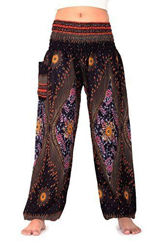 The Original Bangkokpants Made by Fair Trade Manufacturer From Thailand. One Size Fits (US 0-14) Elastic Waist and Ankle Waist 22 stretching to 42 (elastic material) Hip 30-46Length 40 Inseam 30. Easy to wear,Quick drying. Thin and soft fabric for wearing comfort,light with Handmade 100% Rayon. Awesome for holiday relaxation,yoga exercise,nightwears or ordinary day