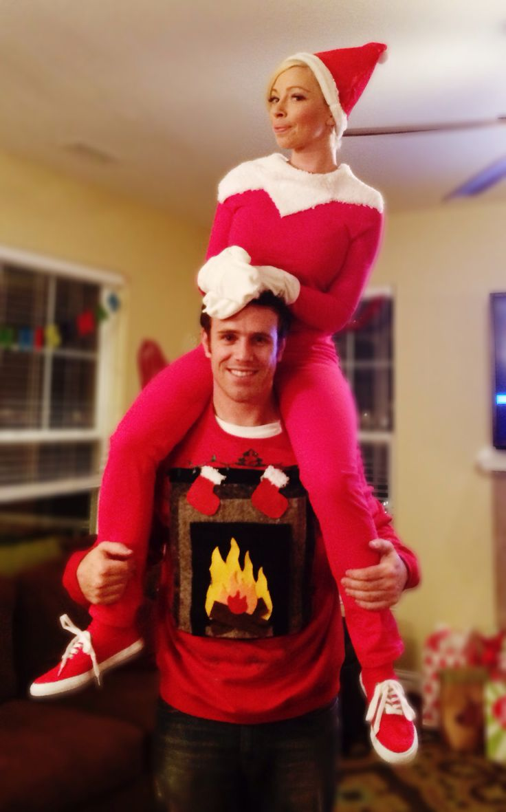 Elf on the shelf DIY costume for ugly Christmas sweater party