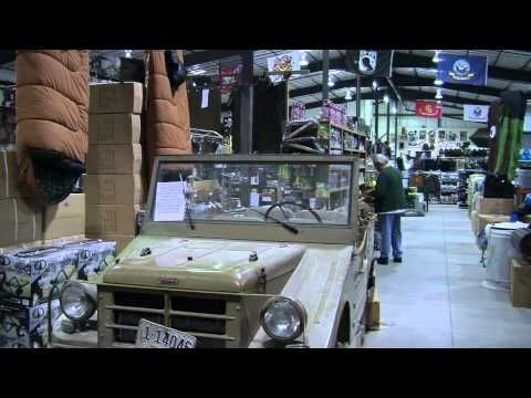 Just outside Idaho Falls, Idaho, is one of the largest Army surplus stores in the nation, Army Surplus Warehouse.     The proud owner, Dana Collins, explains that the store is bigger than a football field, making it the largest military surplus store in Idaho. You really have to see it to believe it.