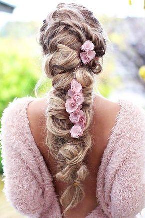 Boho inspiriert kreative und einzigartige Hochzeitsfrisuren – Hochzeit Frisuren – Haare