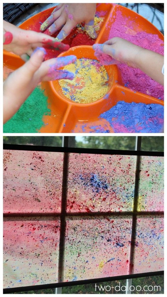 A simple process art activity that also yields a beautiful product to brighten…