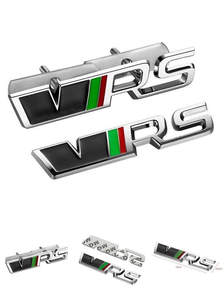 [Visit to Buy] 3D Metal Auto Car VRS Grill Emblem Rear Trunk Sticker For Skoda YETI OCTAVIA FABIA Superb VW JETTA VRS Badge RS Rapid Citigo #Advertisement