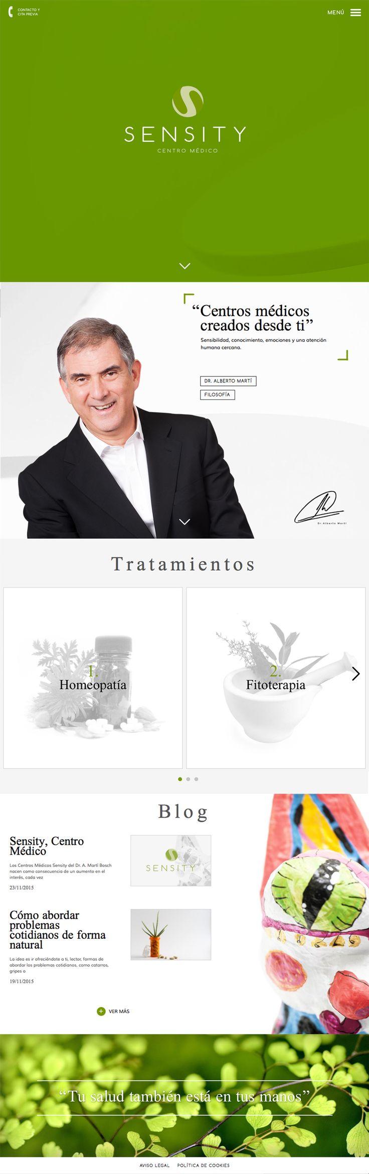 Nueva marca y Web de los Centros Médicos Sensity, creados por uno de los autores más revolucionarios de la medicina actual, el Dr. Alberto Martí.