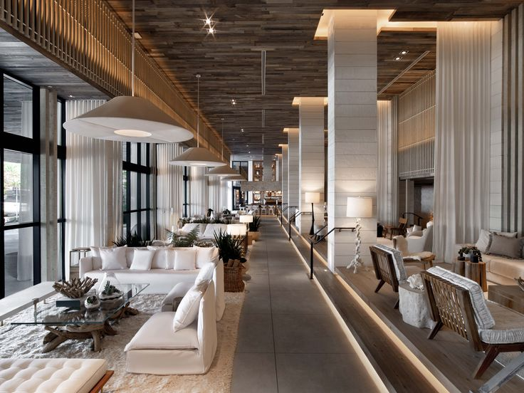 1 Hotel Lobby in South Beach.  Custom Wood Floor installed by All American Floors, Inc. www.aawoodfloors.com