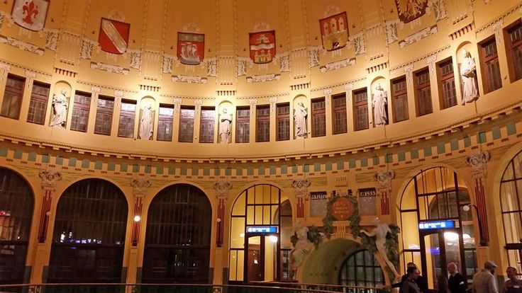 This the historic part of the Prague main train station. This used to be the main entry.