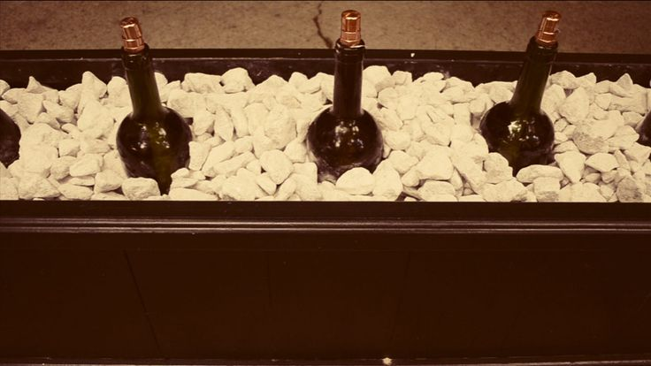 DIY Recycled Wine Bottle Fire Feature |