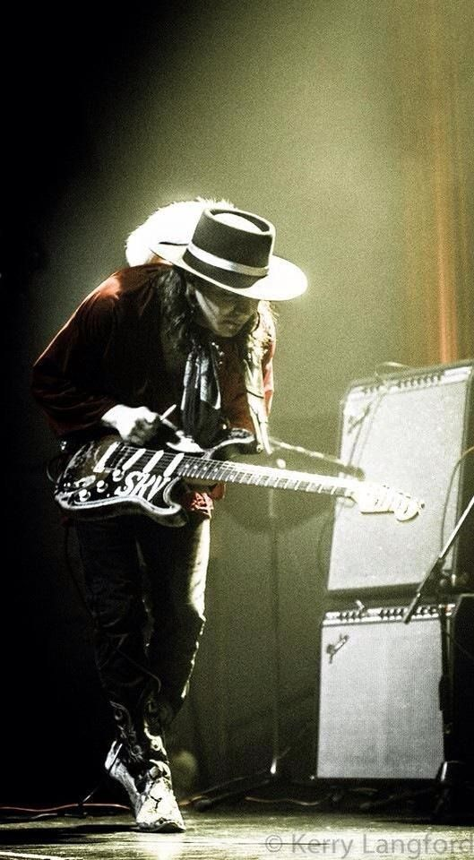 Stevie Ray Vaughan sneaking up on his amplifier                                                                                                                                                                                 More