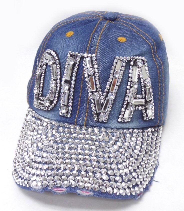 Rhinestone DIVA Hat